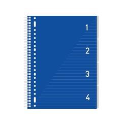 Kangaro 4 in 1 Schrijfblok A4, gelinieerd blauw met tabs