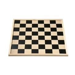 Schaakbord (64 velden) of dambord (100 velden) omkeerbaar 40 cm