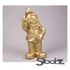Tuinbeeld Kabouter f*ck you goud 20cm