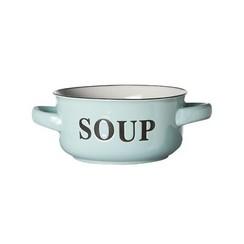 Soepkom 'Soup' Ø13,5xh6,5cm met grepen lichtblauw