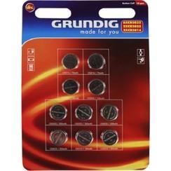Grundig Knoopcelbatterijen 10 stuks op kaart (6xCR2032,2xCR2025,2xCR2016)