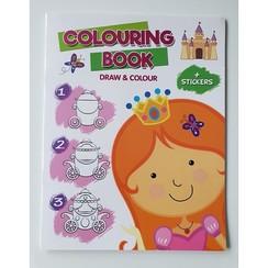 Stap voor stap Teken- en kleurboek met stickers