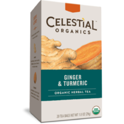 Celestial Seasonings Organic Thee Ginger & Turmeric 20 stuks