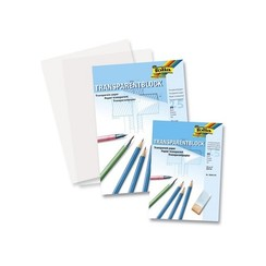 Transparant papier overtrekpapier Folia A4 blok a 25vel