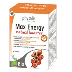 Physalis Max Energy Booster Bio 30 tabletten