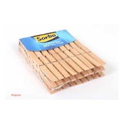 Sorbo wasknijpers hout pak a 5x36st