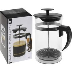 Koffiezetter glas 1 liter voor 8 kopjes