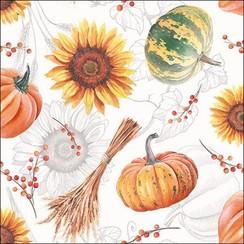 Ambiente Servetten Pumpkins & Sunflowers 25cm 20 stuks