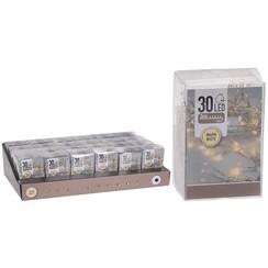 Kerstverlichting 30LED op batterij voor binnen warmwit 3xAA (excl. batterijen)