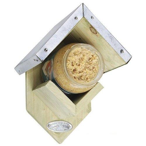 Esschert Design Pindakaas voederhuisje 15x13x20cm Vurenhout/zink