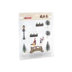 Kerstfigurenset 10-delig met brug
