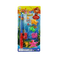 Visspel met werphengel plastic