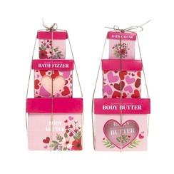 Love bad geschenkset 3-delig rose & jasmine