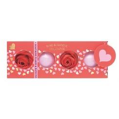 Badgiftset 2x badbruisbal + 2x bad confetti rozen