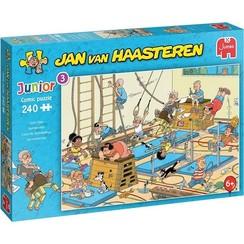 Jumbo Jan van Haasteren Junior puzzel Apenkooien 240 stukjes