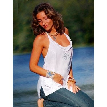 Moon & Hills Linen Yoga Long Top OM