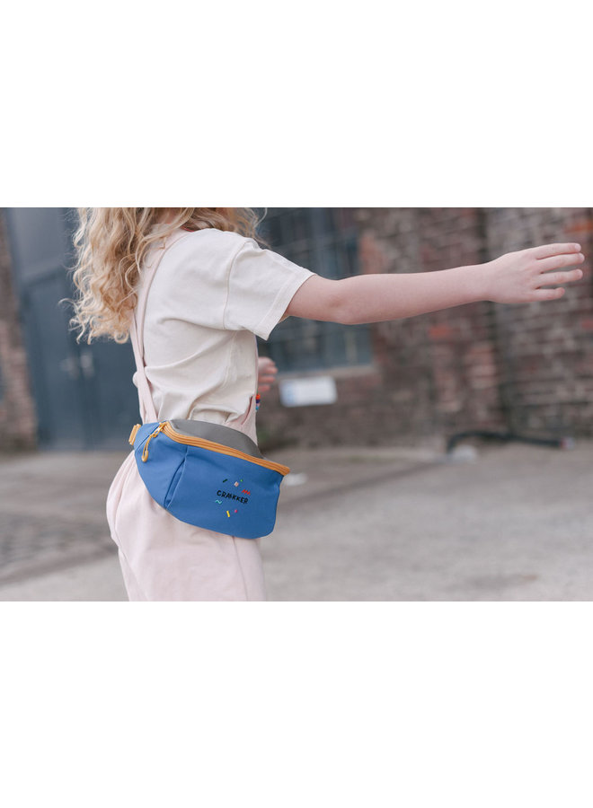 HOOPOE   HIP BAG BLUE-GREEN-OCHRE