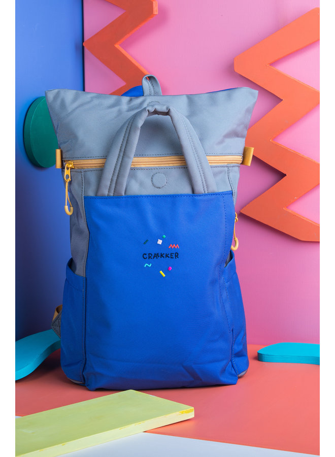 MAGPIE   BACKPACK BLUE-GREEN-OCHRE