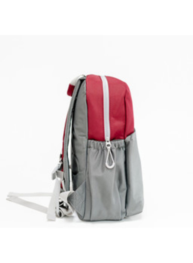 ROOK   BACKPACK BORDEAUX-GREY-STONE