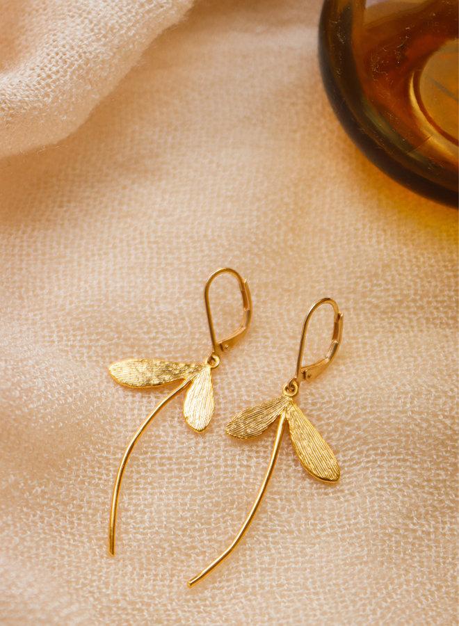 Matt dragonfly earrings
