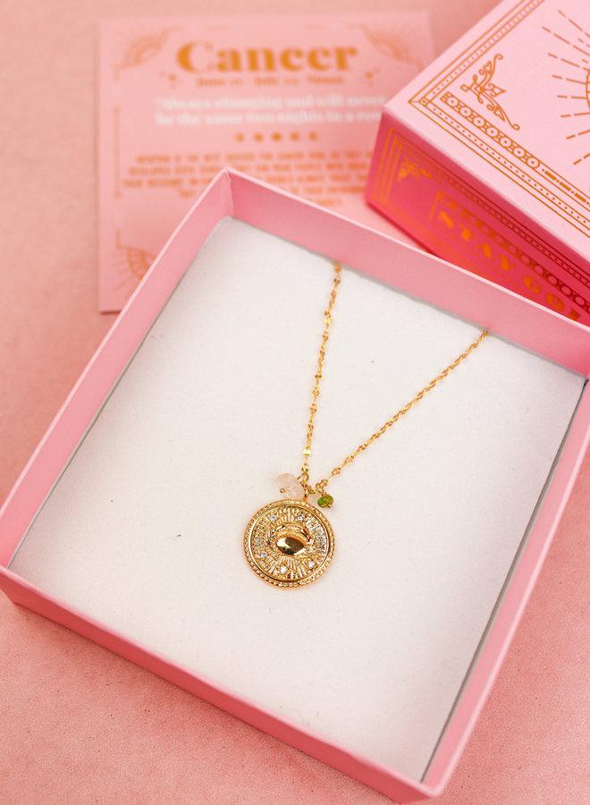 Zodiac Necklace Cancer