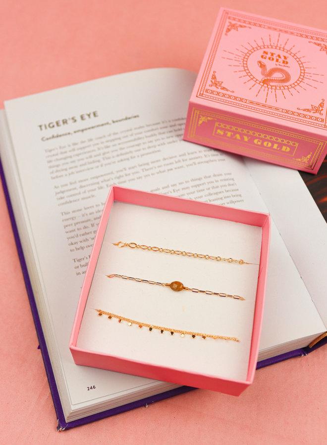 Bracelet Giftbox Set - Tiger Eye