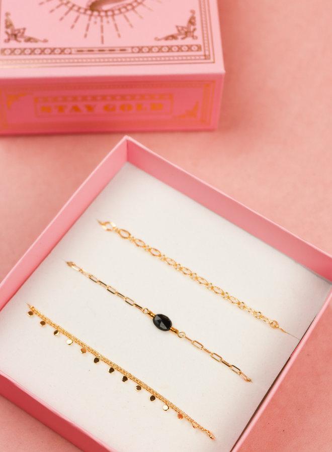 Bracelet Giftbox Set - Black Obsidian