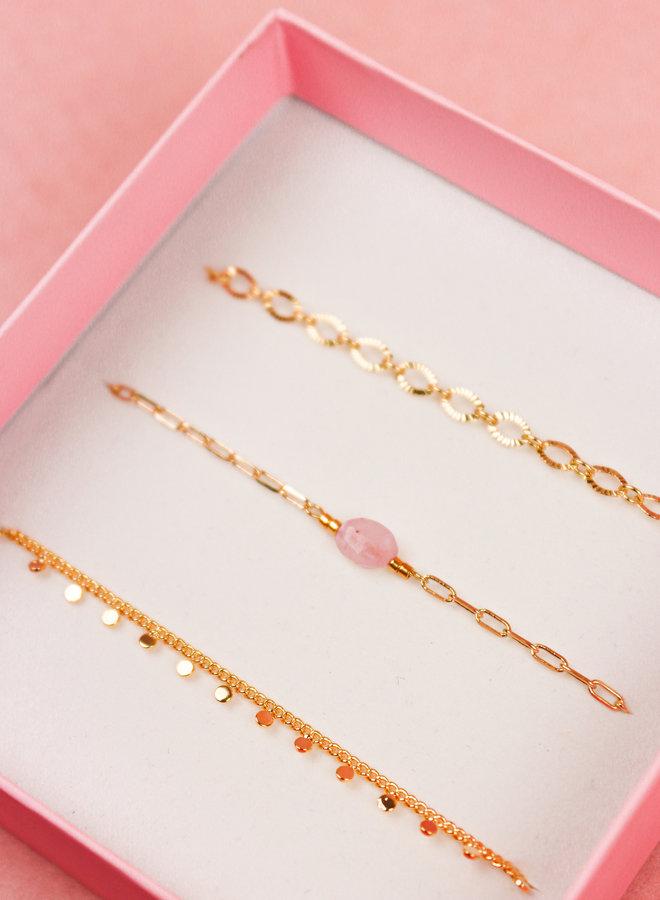 Bracelet Giftbox Set - Rose Quartz