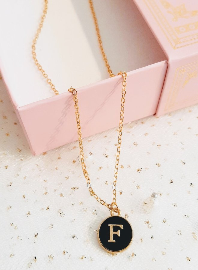 Initial Necklace  letter F