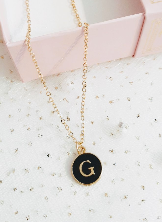 Initial Necklace  letter G