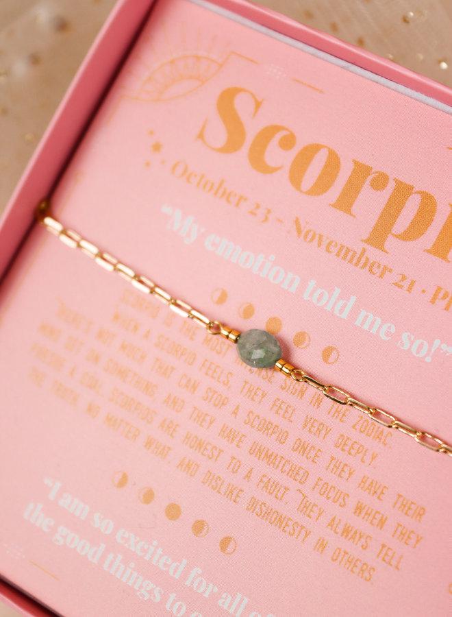 Scorpio birhtstone bracelet