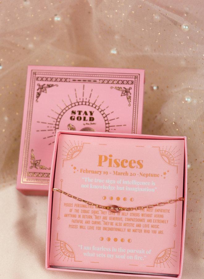 Pisces birthstone bracelet