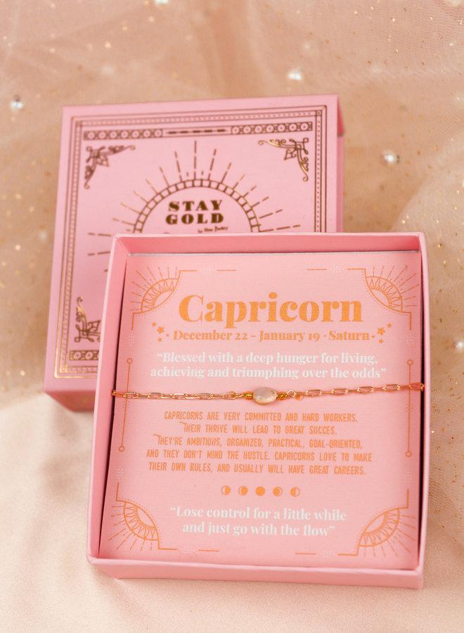 Capricorn birthstone bracelet