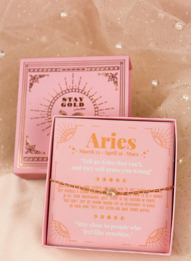 Aries birthstone bracelet