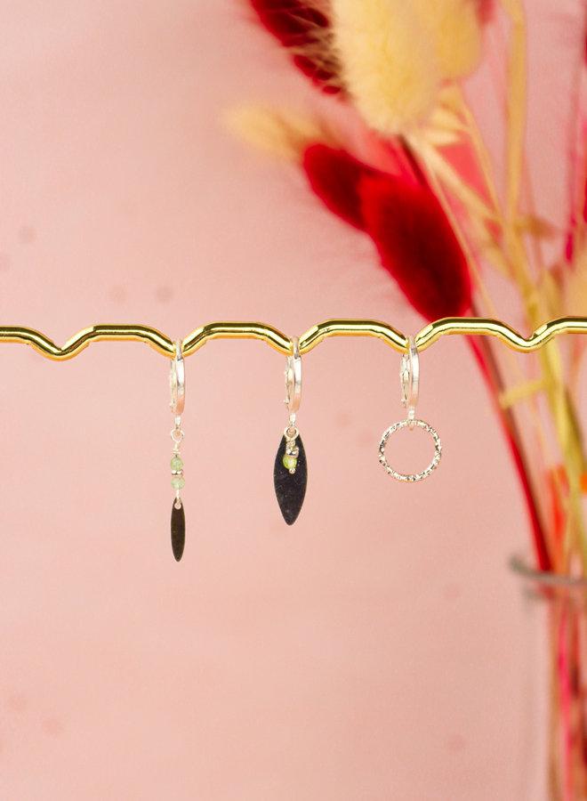 Set of 3 matching earrings prehnite