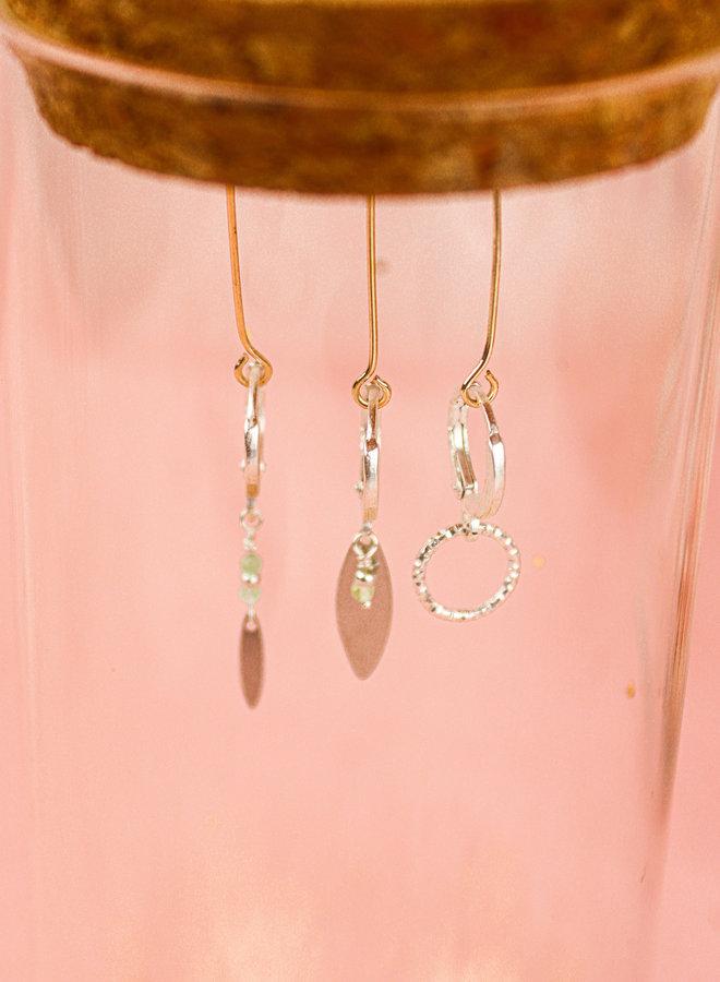 Set of 3 matching earrings light green