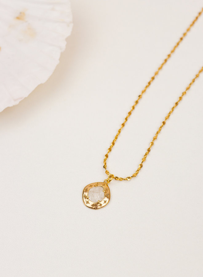 Stary Clear Quartz Necklace
