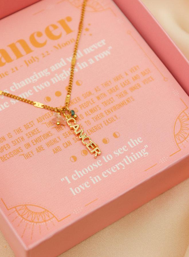 Cancer Word Zodiac Necklace