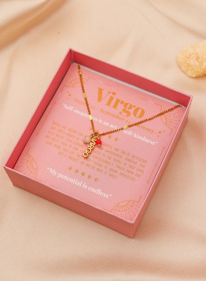 Virgo Word Zodiac Necklace