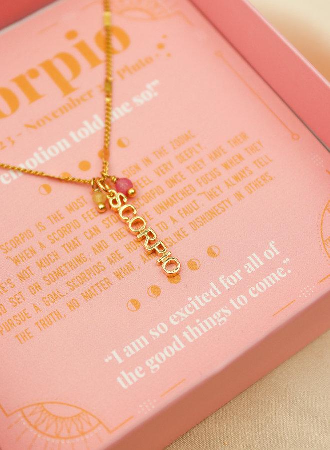 Scorpio Word Zodiac Necklace