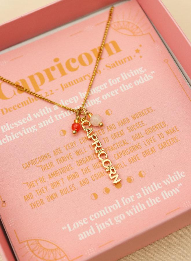 Capricorn Word Zodiac Necklace