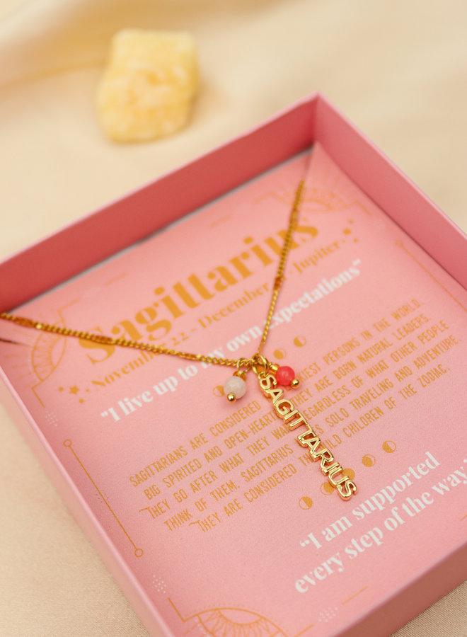 Sagittarius Word Zodiac Necklace