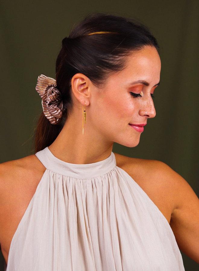 Asymmetrical pyramid earrings