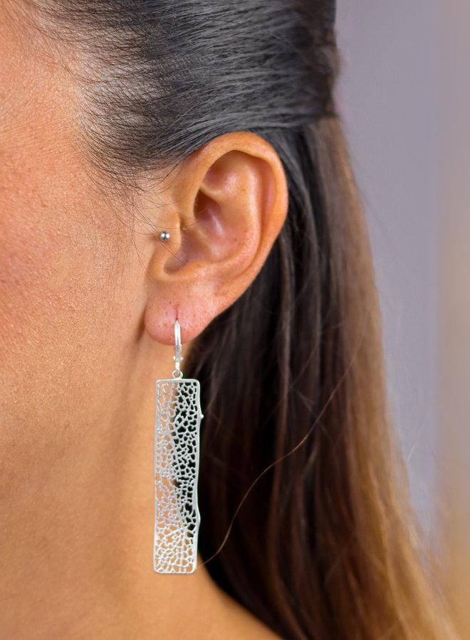 Sea Coral rectangle earrings