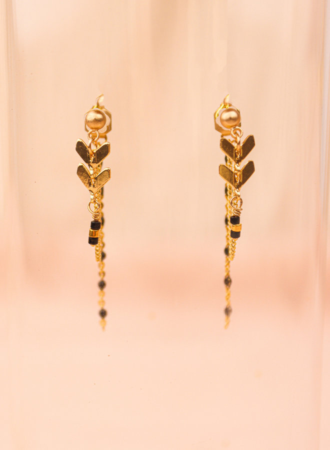 Chevron connecting post earrings