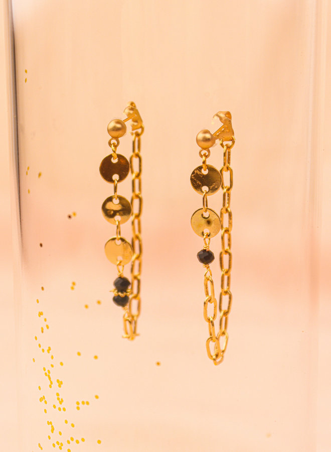 Disk connecting post earrings