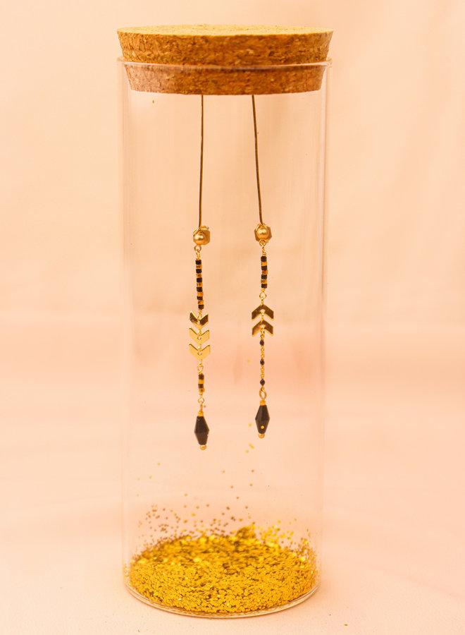 Asymmetrical chevron post earrings