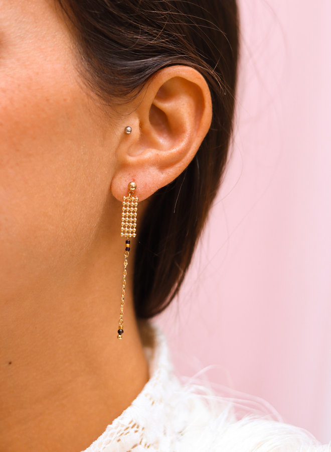 Lila - connected post earring