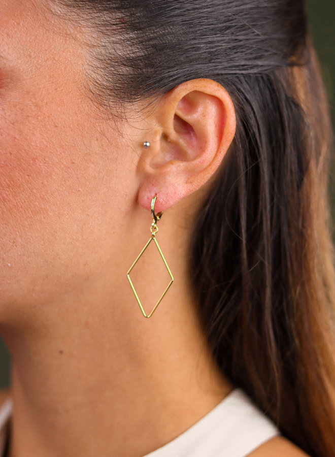 Gold plated rhombus