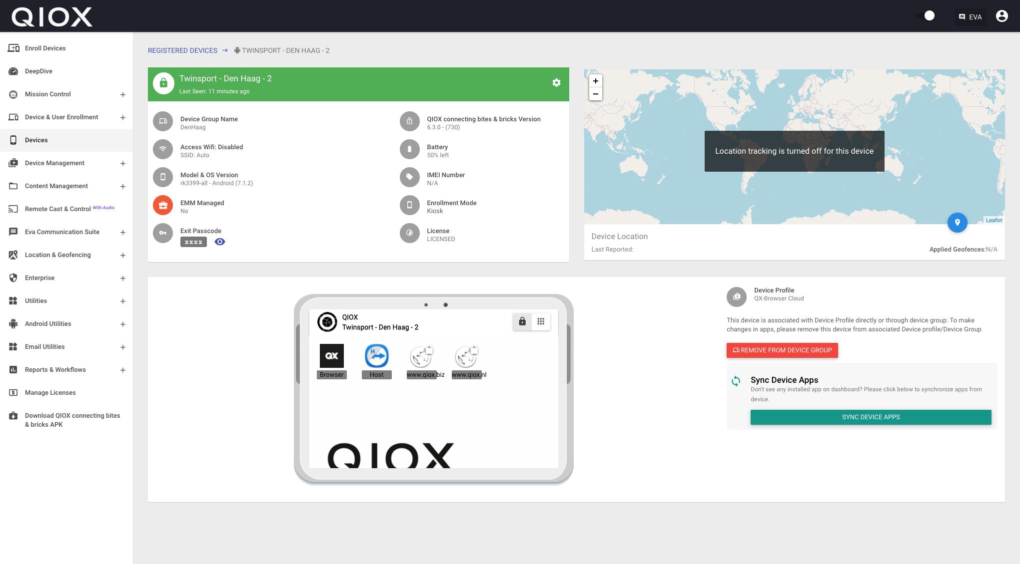 Remote QIOX MDM